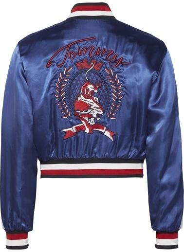 Tommy Hilfiger Kadın Utılıty Souvenır Jkt Ls Ceket RW0RW00589 Mavi